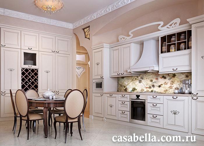 Влагостойкая фреска в качестве кухонного фартука